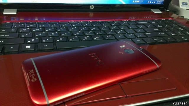 HTC One (M8) rosso 3