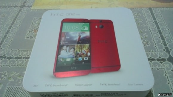 HTC One (M8) rosso