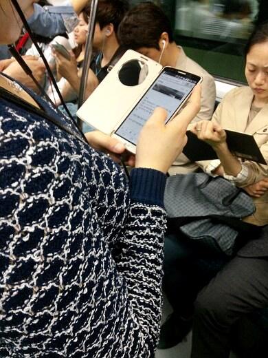 LG G3 fa la sua prima apparizione in metropolitana