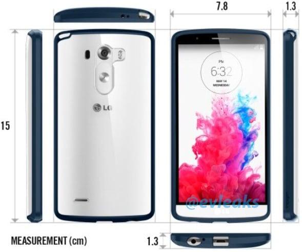 LG G3, ecco le dimensioni con una custodia