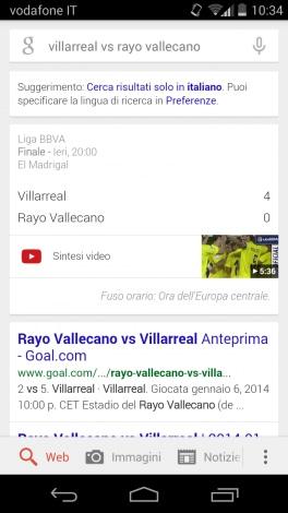 Liga Google Now