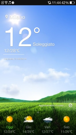 Oppo Find 7a Screenshot Meteo