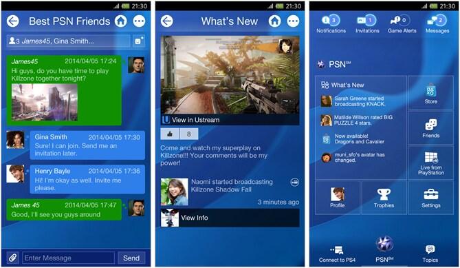 PlayStation App Header