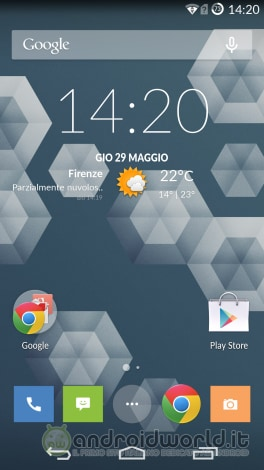 Screenshot OnePlus One Home