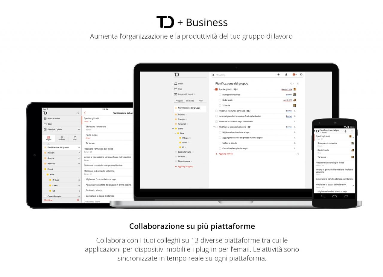 Todoist lancia Todoist Business per le aziende (foto e video)