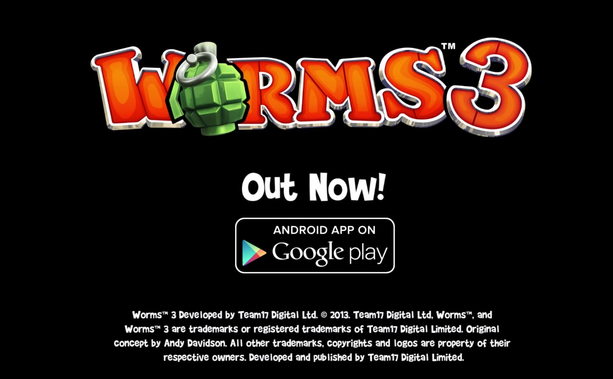 Worms 3 Android Header