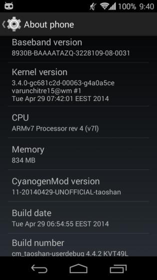 Xperia L CyanogenMod