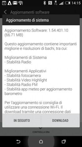 aggiornamento HTC One (M8)