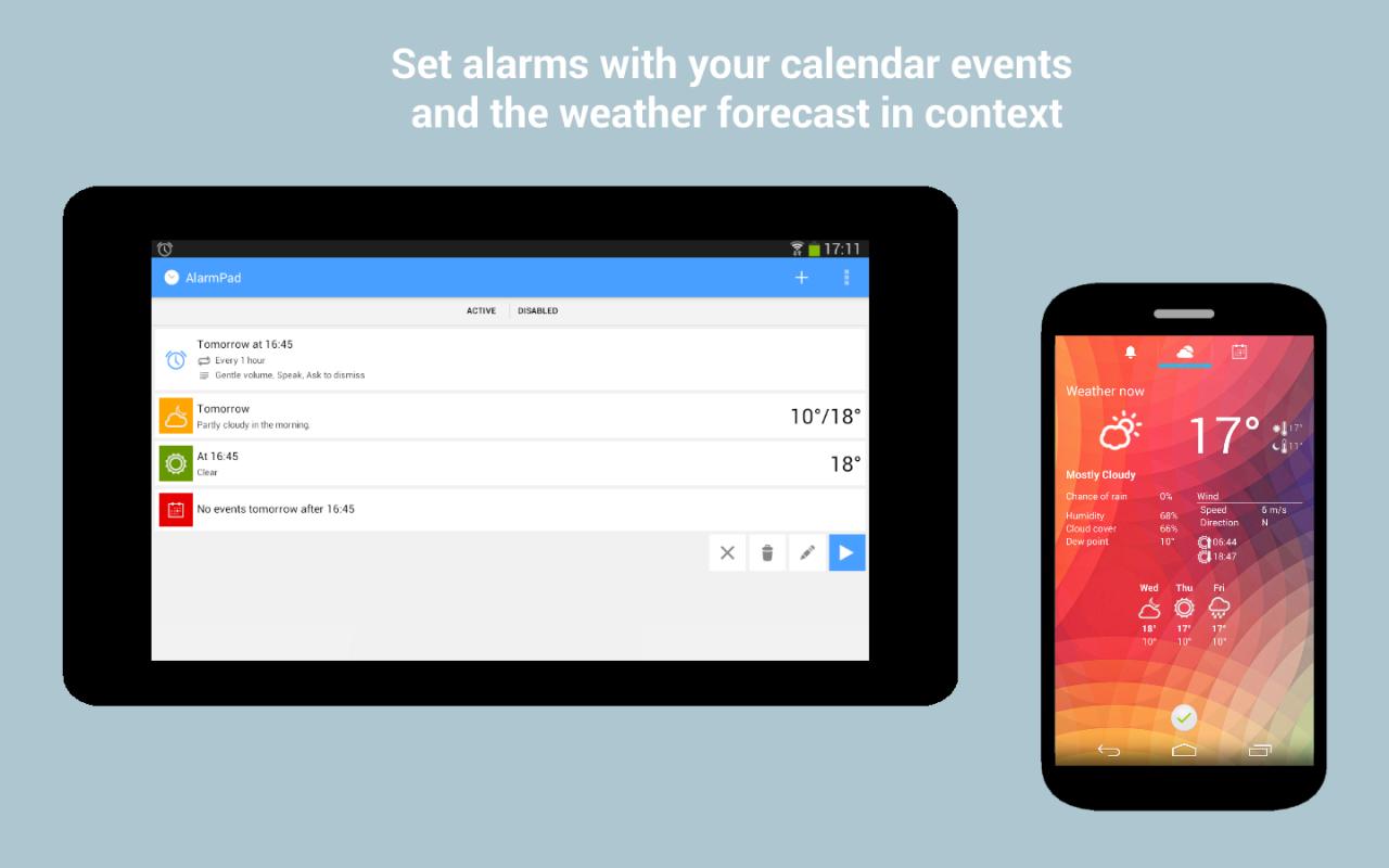 Sveglia alternativa ricca di informazioni con AlarmPad (foto)