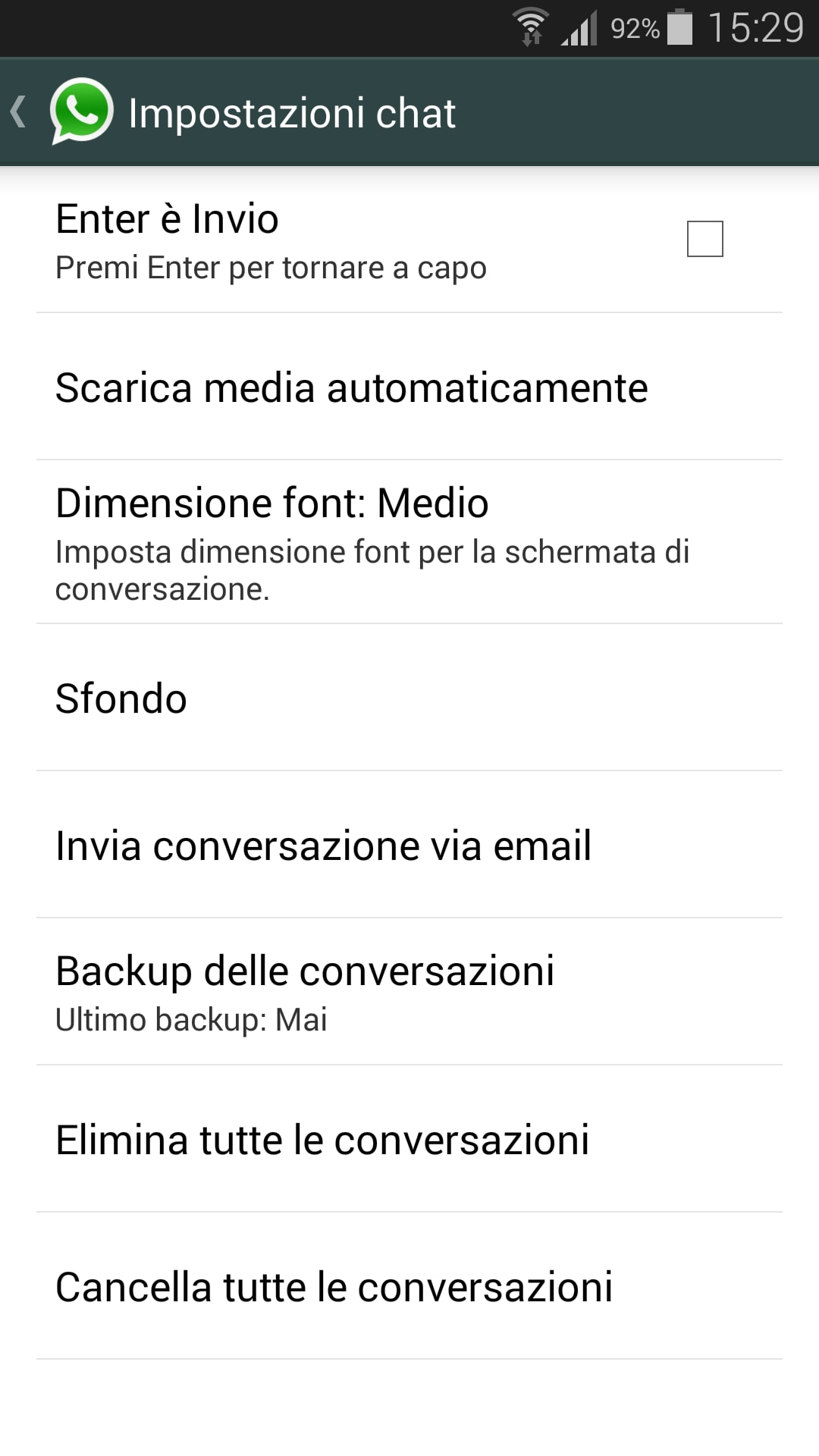 backup e restore whatsapp 1