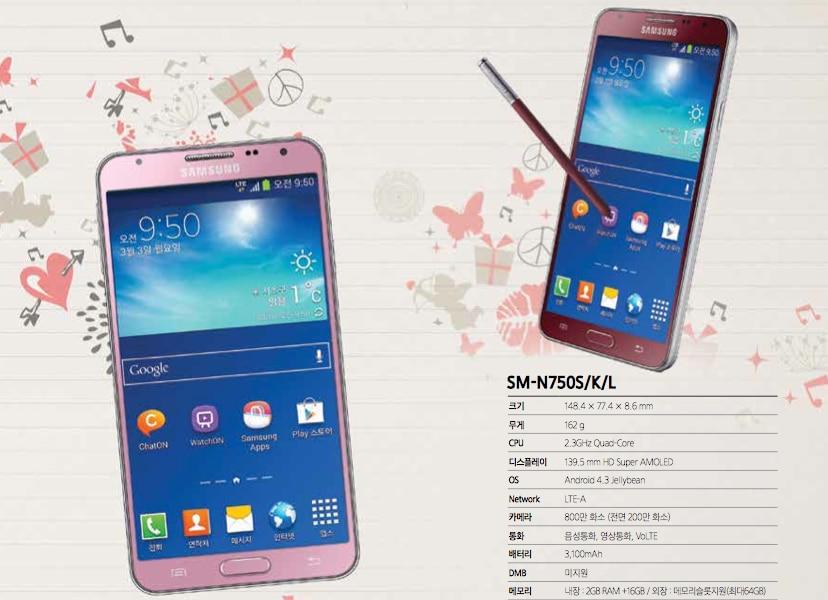 Galaxy Note 3 Neo anche rosa e rosso in Corea
