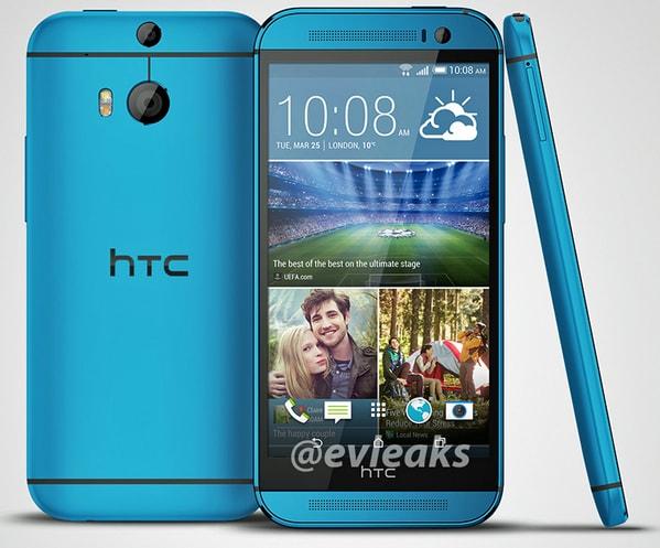 HTC One (M8) si prepara a vestirsi di blu