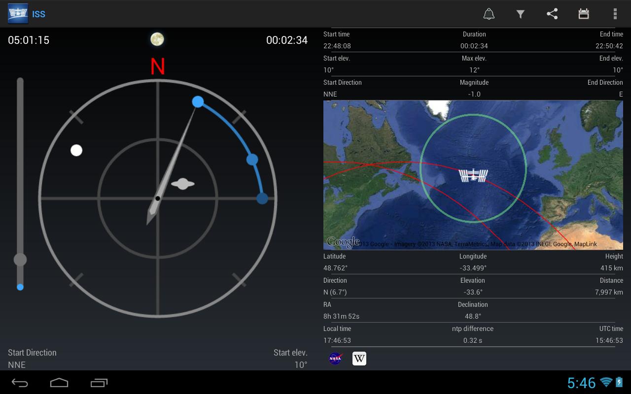 Con ISS Detector non perderai un passaggio della Stazione Spaziale Internazionale