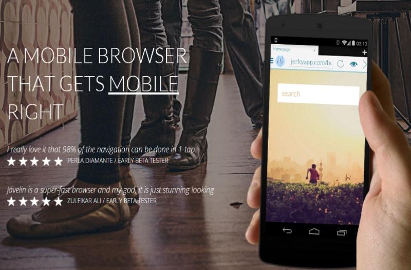 Lo sviluppatore di Javelin Browser invia mail pubblicitarie a chi ha scaricato l'app