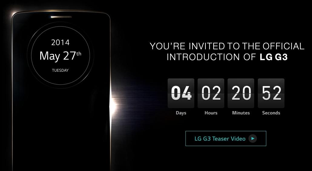 LG lancia il countdown per la presentazione del G3