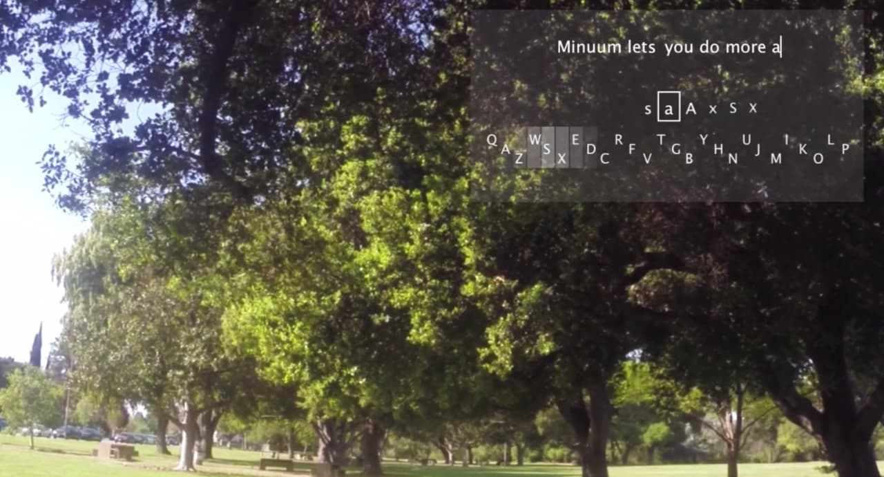 Minuum Keyboard sbarca sui Google Glass (video)