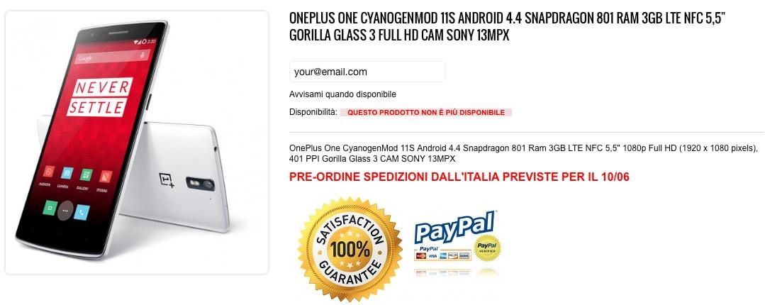 OnePlus One disponibile dal 10 giugno su un sito italiano (foto unboxing)