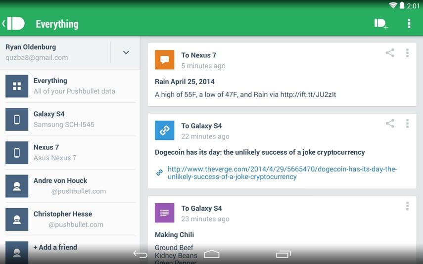 Pushbullet apre un programma di beta testing