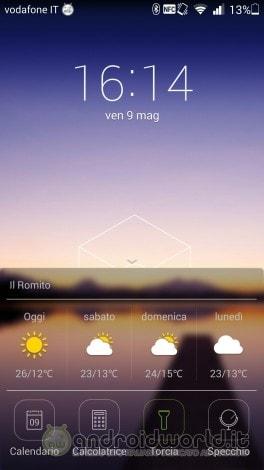 screenshot Huawei Ascend P7 lockscreen