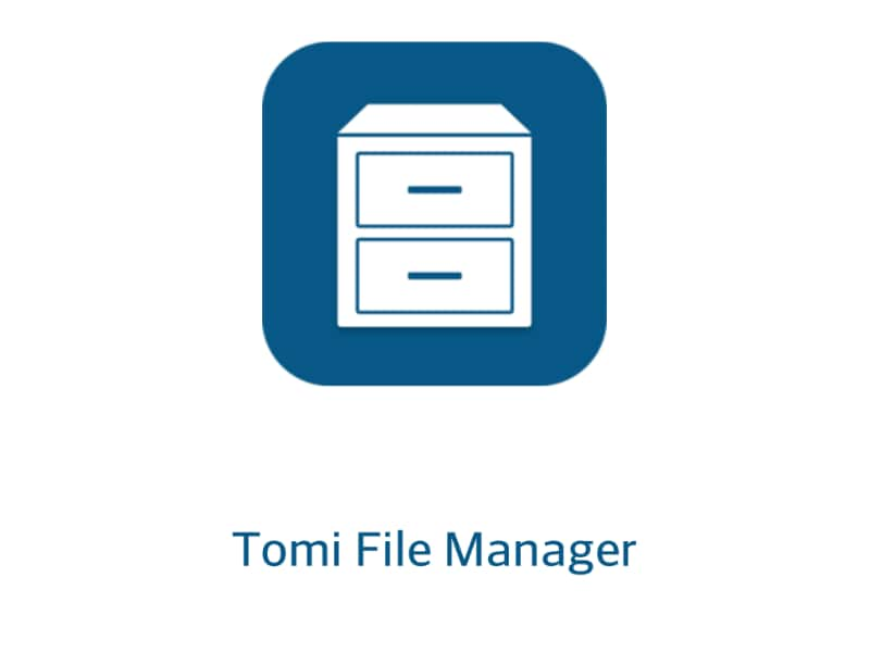 tomi file manager_applicazione_gestione file