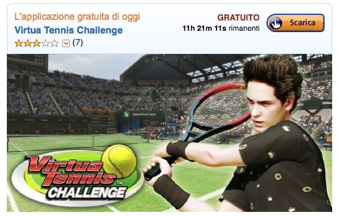 Virtua Tennis Challenge è l'app gratuita del giorno su Amazon App-Shop