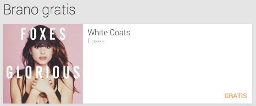 White Coats di Foxes è il singolo gratuito di questa settimana