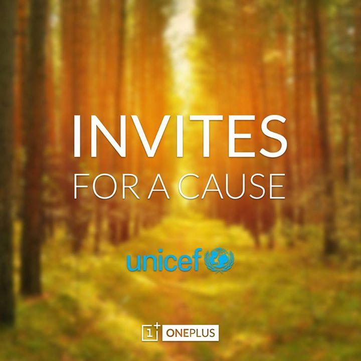 """Inizia la nuova campagna """"Invites for a cause"""" di OnePlus One per l'Unicef"""
