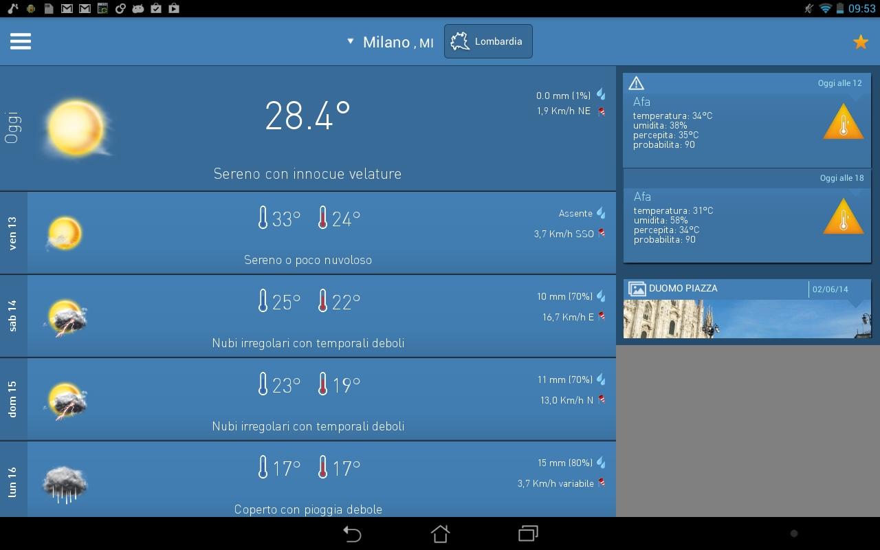 3B Meteo si aggiorna con il supporto ai tablet