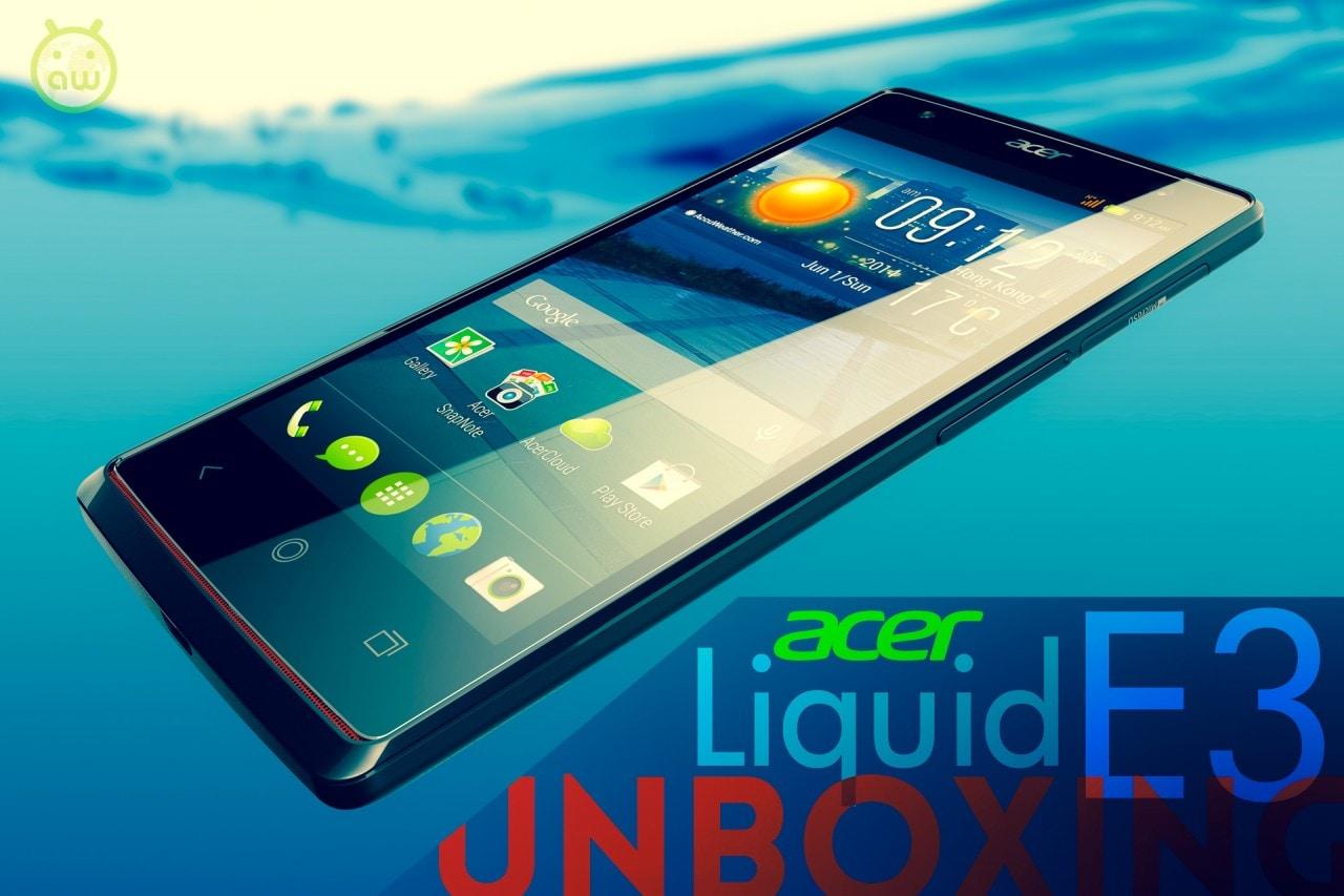 Acer Liquid E3 unboxing