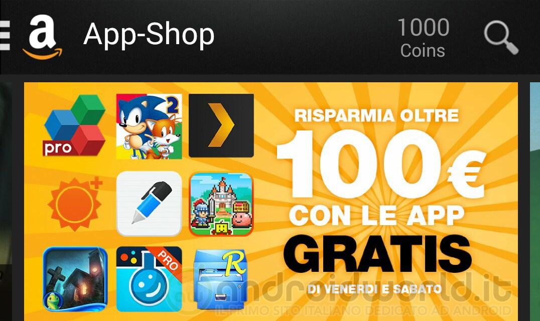 Amazon App-Shop 100€ app