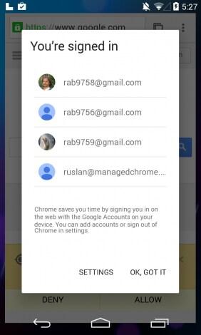 Android L screenshot