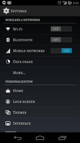 CyanogenMod font 5