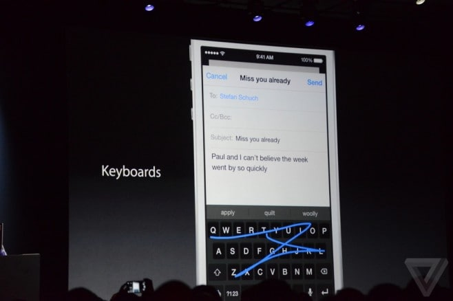 keyboard iOS