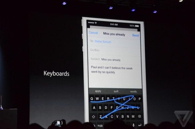 keyboard iOS
