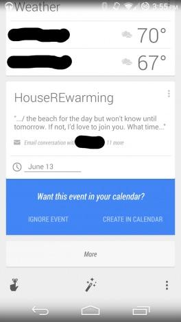 Google Now eventi