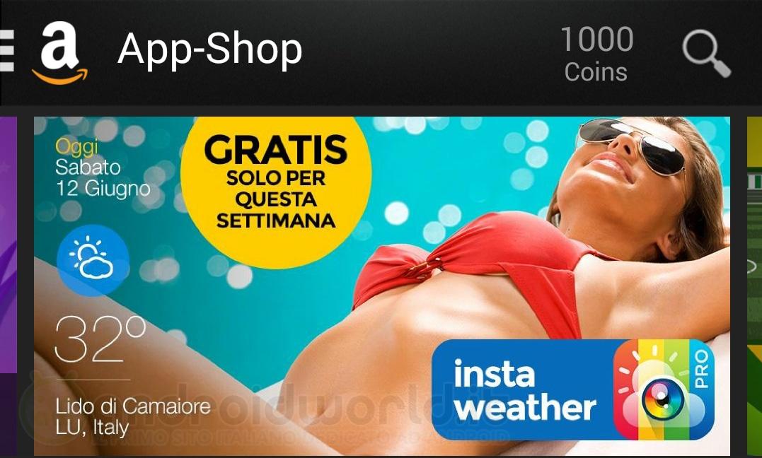 InstaWeather PRO gratis su Amazon App-Shop per un periodo di tempo limitato (video)