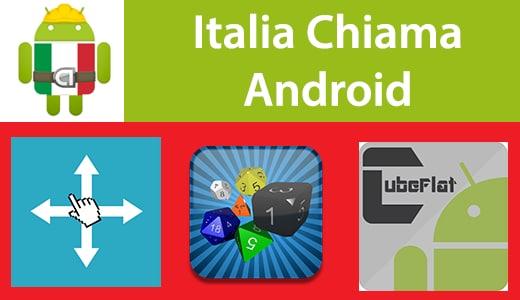 Italia Chiama Android: Swish!, TiraDadi Rapido, Cube Flat Ui