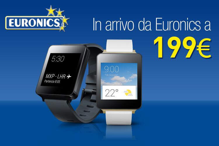 LG G Watch in arrivo anche da Euronics