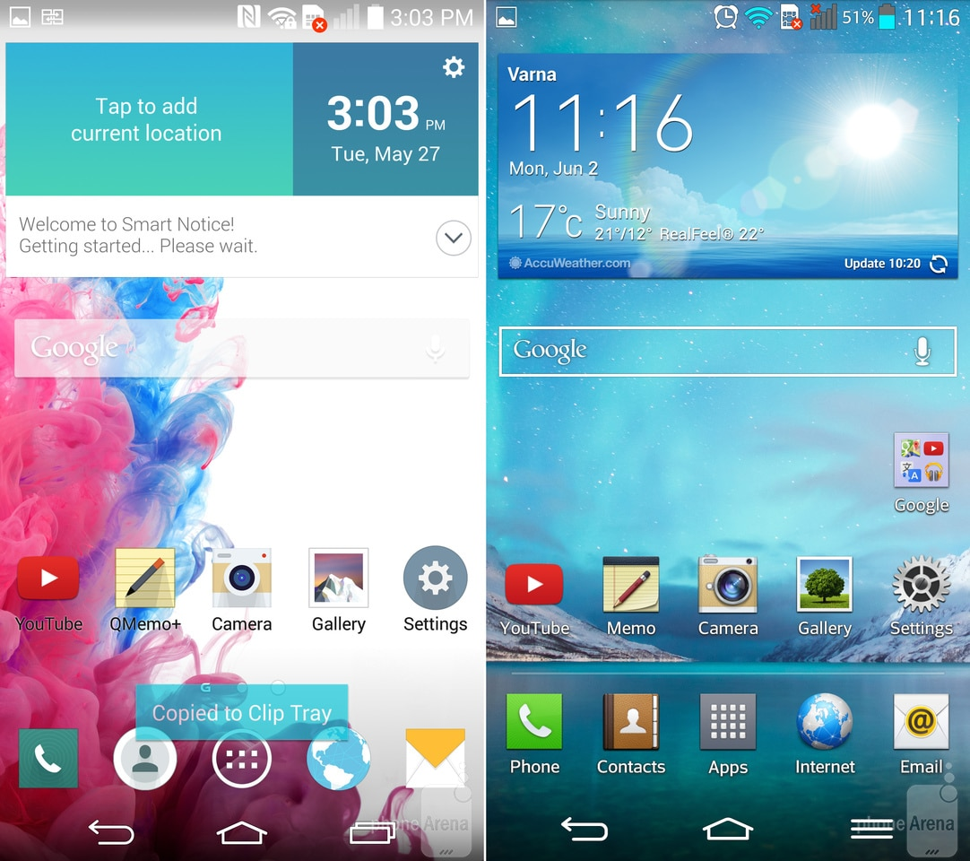 LG G3 Vs LG G2 Interfacce A Confronto Foto