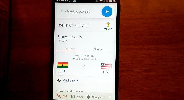 Mondiali di calcio 2014 su Google Now: da oggi anche in italiano (foto)