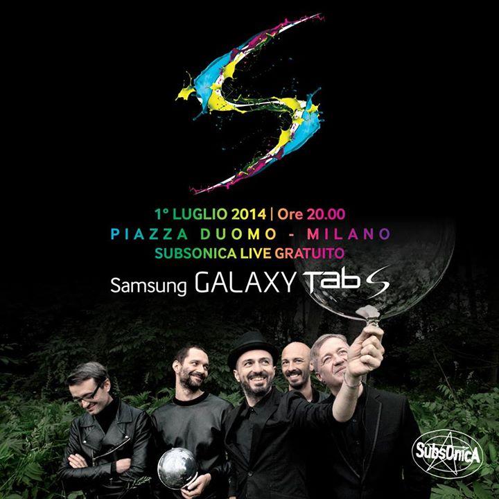 Samsung Galaxy Tab S: l'evento a Milano con musica live dei Subsonica