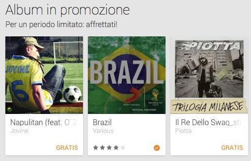 Due singoli e un album gratuiti scaricabili da Google Play Music