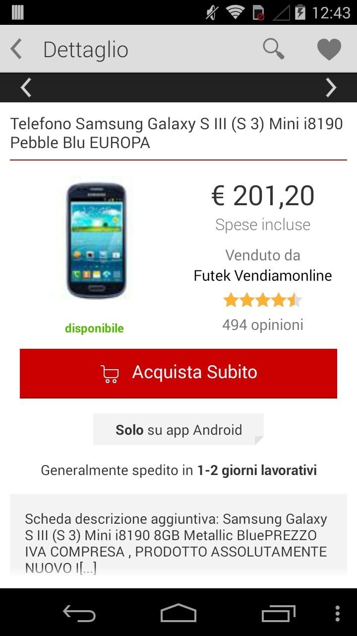 Trovaprezzi si aggiorna con navigation drawer e acquisti dall\'app ...