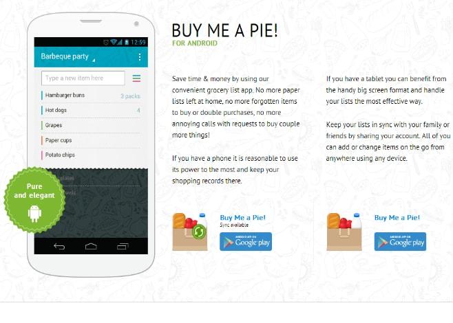 buy me a pie_applicazione_lista della spesa