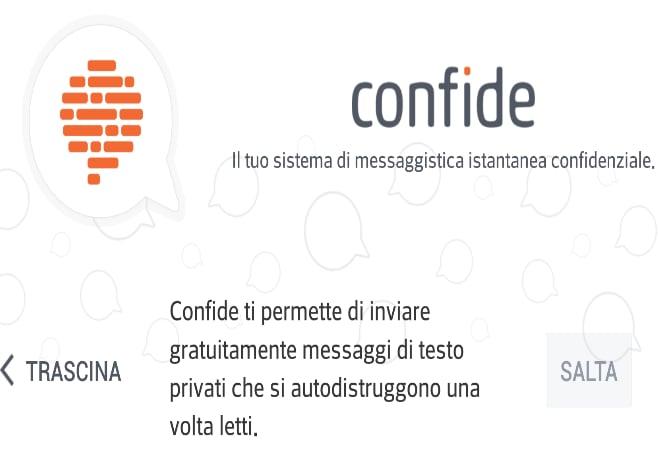 Scambiare messaggi criptati che si autodistruggono grazie a Confide (foto)