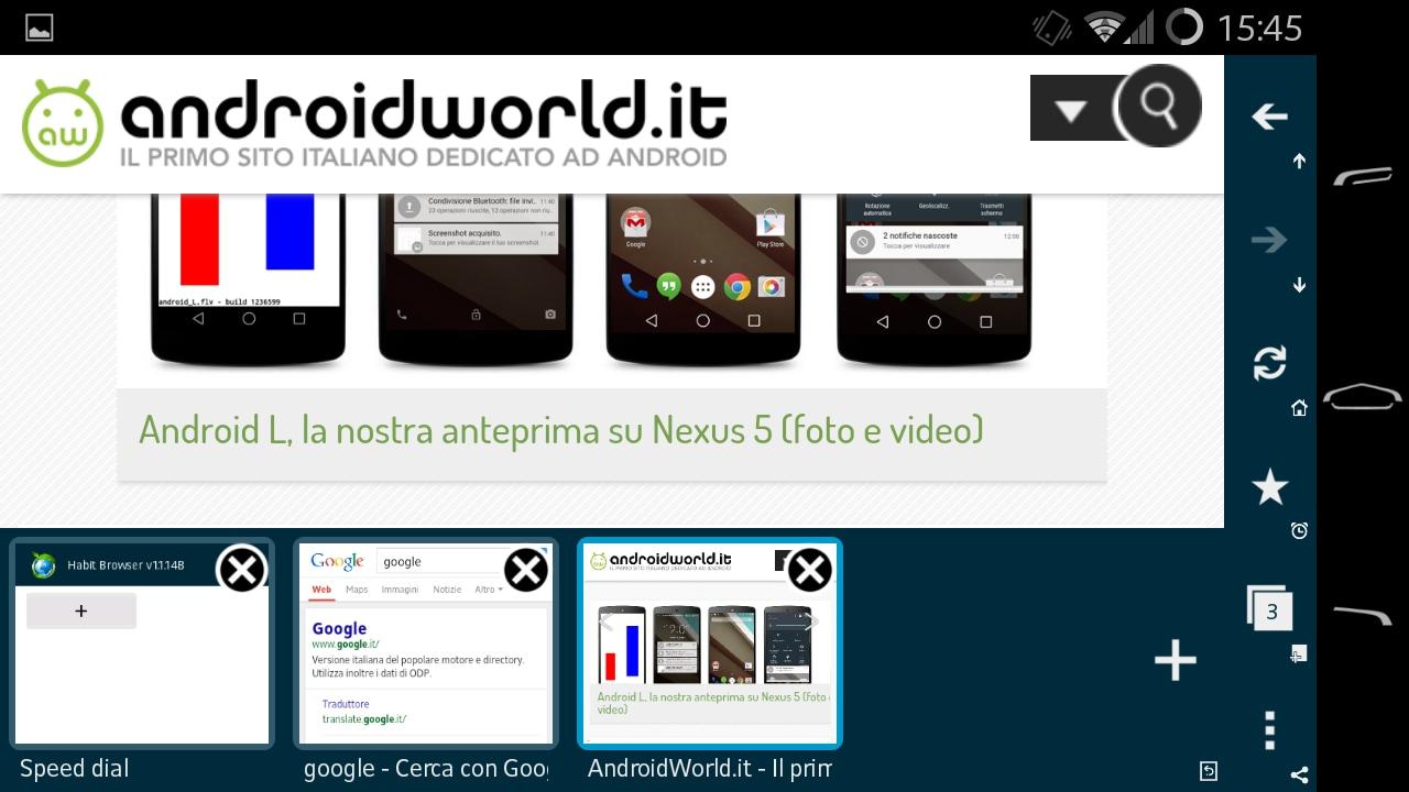 Habit Browser: fluidità, personalizzazione e tante funzionalità (foto e video)