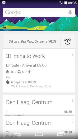 Google Now sveglia mezzi pubblici