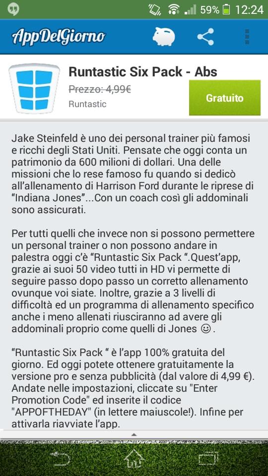 Runtastic Six Pack Abs Workout è l'app gratuita di oggi con App Del Giorno