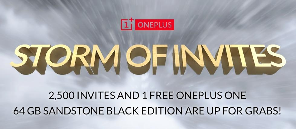"""Arriva la """"tempesta di inviti"""" di OnePlus: 2.500 inviti più uno One gratis in palio"""