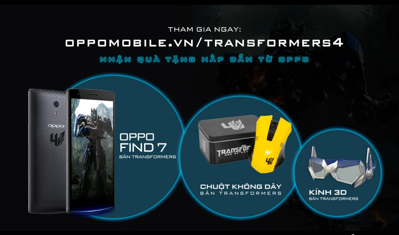 transformers edition oppo find 7